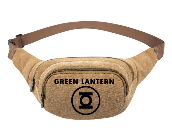 Moving Fanny Pack Marvel Waist Bags Canvas Green Lantern Logo Waist Bag Shoulder Bag For Woman And Man