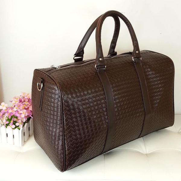 47*30*20 PU Leather Mens Bags Travel Luggage Bag Men Duffel Travel Tote Large Weekend Bag Overnight Big Duffle Women