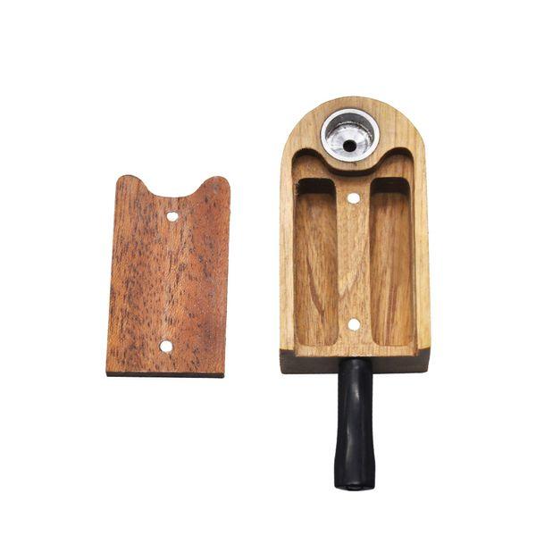 Honeypuff Natürliche Klassische Handgemachte Rose Holz Pfeife 106 MM Mit Metall Schüssel Aufbewahrungskoffer Tabak Pfeife Rauch Zubehör