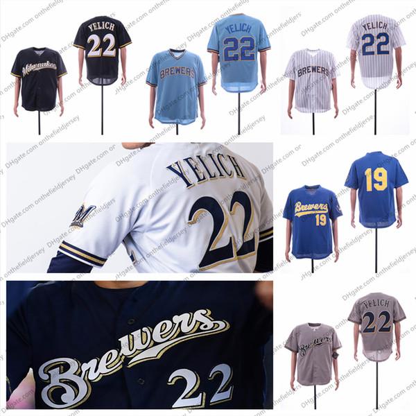 f041b9f5a Custom Milwaukee Baseball Jersey Brewers Any Name Number 22 Christian Yelich  8 Ryan Braun 6 Lorenzo