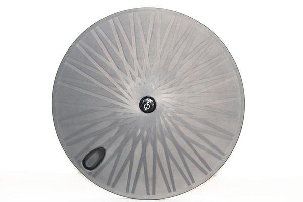 Ruota in fibra di carbonio Toray 700c disco ruota in carbonio ruota posteriore ruote tubolare per strada / pista TT bici OEM copertoncino in carbonio ruote ciclismo