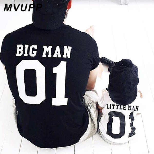 Family Look matching outfits father and son big litter man Dad baby summer fathers day clothing T-shirt for daddy and me clothes