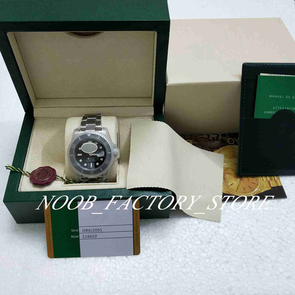 Лучший N Factory V5 версия 3 Стиль 2813 Движение Часы Черный 40мм керамический ободок сапф