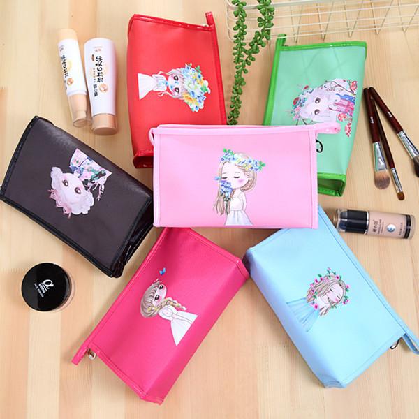 In stile coreano borsa da viaggio sacchetto creativo di immagazzinaggio Forniture caramelle di colore di trucco sveglio impermeabile