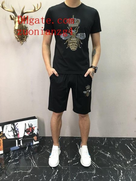 mens t shirts 2019 new summer Casual soccer tracksuit football joggers chandal futbol training suit mens brand tracksuits men s clothing N5
