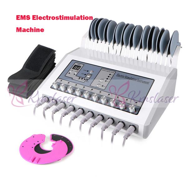En iyi Kalite Kilo Kaybı Ems Kas Stimülatörü Electrostimulation Makinesi / Rus Dalgaları Ems Elektrikli Kas Stimülatörü Zayıflama Spa Makinesi