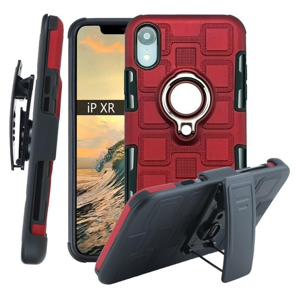 Nouvel iPhone xr coque de téléphone mobile cube de glace trois-en-un arrière clip cache-cache voiture support aimant soft shell pour samsung S8 S9 note 8 note 9A10