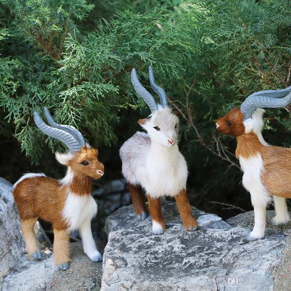 Nuova pecora di antilope Simulazione di peluche Capodanno Natale Decorazioni per la casa Addobbi natalizi per la casa Regalo di Natale Navidad Noel Xmas