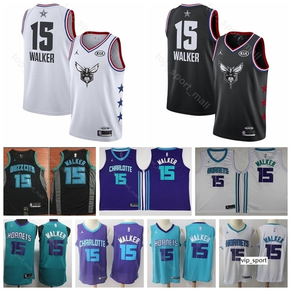 separation shoes 878dc a2b96 2019 Charlotte Basketball Hornets Kemba Walker Jersey Men All 2019 Star  Black White Edition City Team Color Purple Green Shirts Uniform From ...