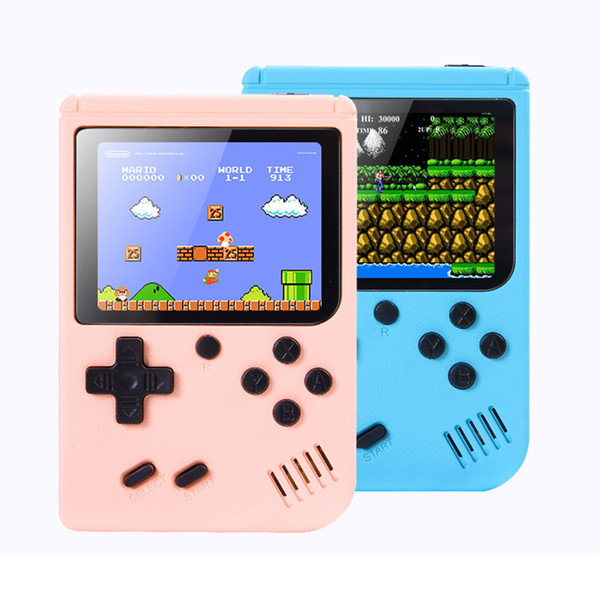 top popular New Portable Video Game Player Mini Games Console Handheld Game Box 3.0 Inch Color LCD AV-out 500 800 Classic Retro Games for Kids Gift 2021
