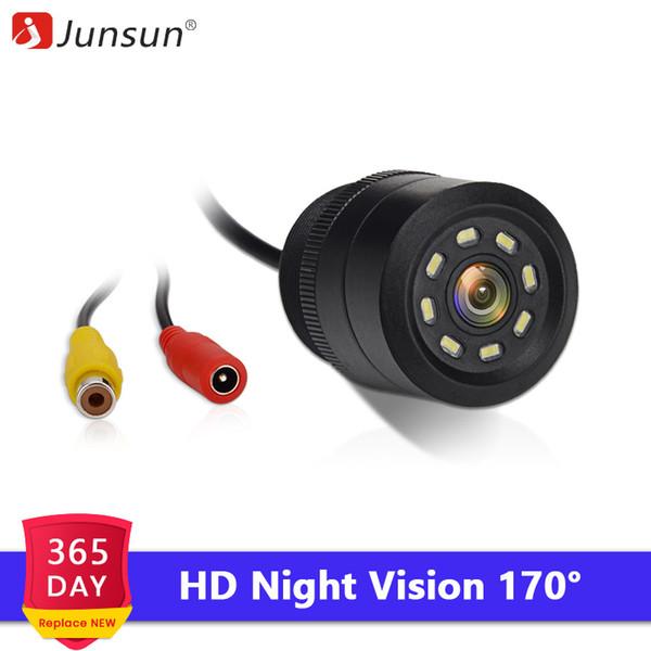 Junsun Car DVD Câmara de visão traseira 8 LED HD Com Night Vision 170 Degree Camera Reversa Waterproof