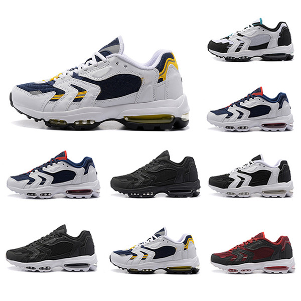 Compre Nike Air Max 96 Airmax 96 Shoes Zapatos Correr Para Hombres Cojín 96S Negro Blanco Multicolor Venta Caliente Barata Zapatillas De Deporte Para