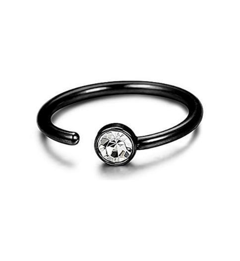 Piercing du corps en forme de C anneaux de nez en diamant mis en place tarière nasale en acier inoxydable bague de faux nez ornent l'article
