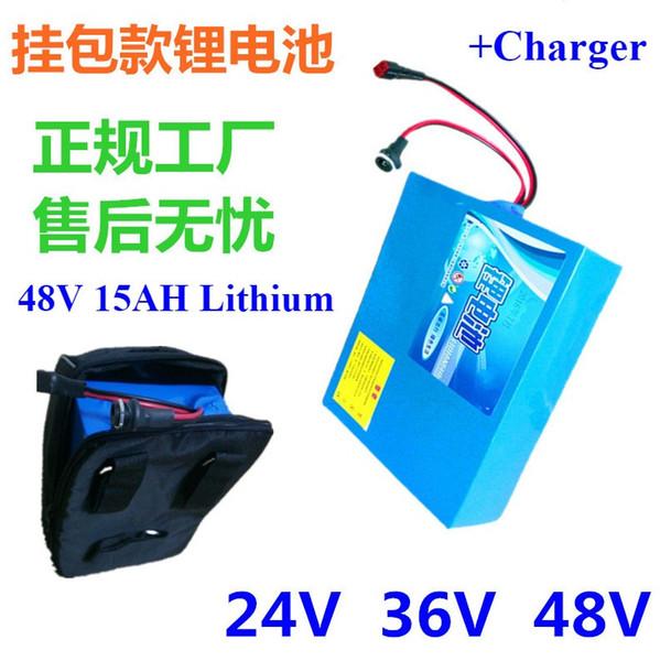 Support arrière batterie 18650 48V 10AH + chargeur 3A Sacoche batterie gratuite pour scooter électrique Mountain Bike Scooter électrique