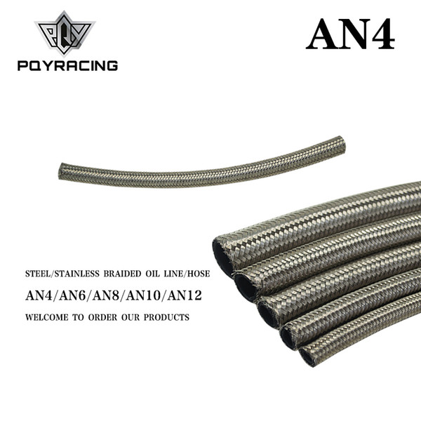 """best selling PQY - AN4 4AN AN-4 (5.6MM   7 32"""" ID) STAINLESS STEEL BRAIDED FUEL OIL LINE WATER HOSE ONE FEET 0.3M PQY7111-1"""