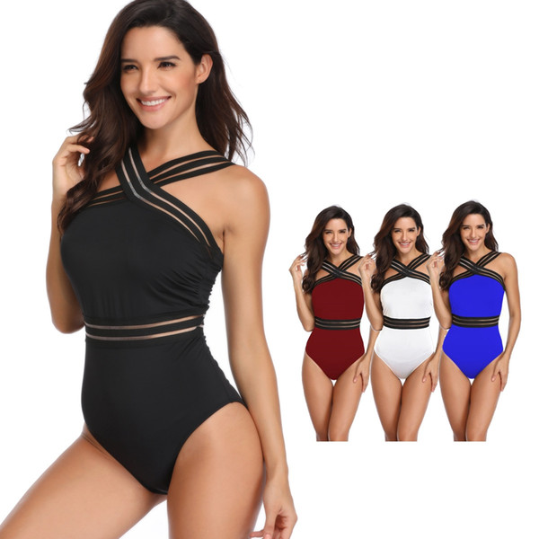 top popular Womens One Piece Suits Backless Swimsuits Tummy Control Sexy Swimwear Bikinis Athletic Training Slimming Bathing Swim Wear MMA1876 2020