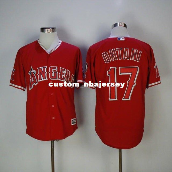 Cheap Custom Men's Shohei Ohtani Baseball Red Home Cool Base jerseys Stitched Retro Mens jerseys Customize any name number
