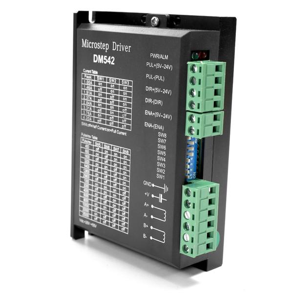 DM542 2-fase conductor del motor de pasos 57/86 Series Paso Stepping conductor del motor de entrada de señal 18-48VDC El aislamiento óptico