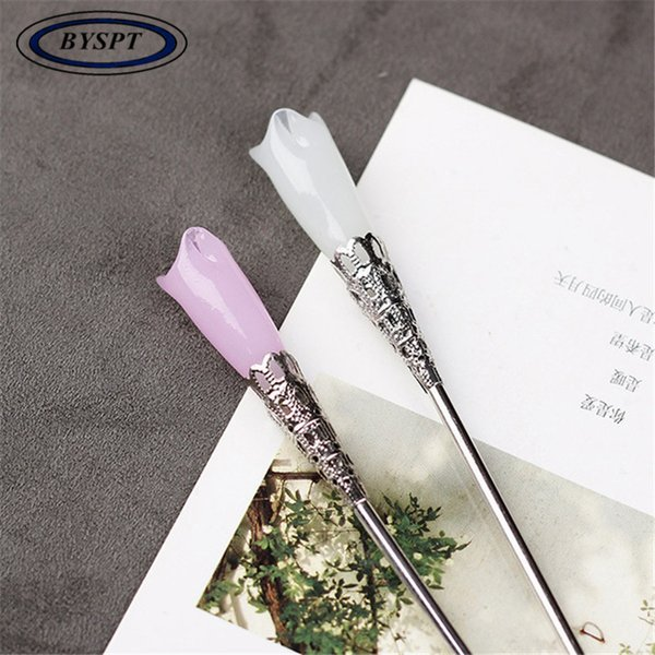 BYSPT Hairpin Chinese Ethnic Retro White Pink Costume shake Hair Accessories C19010501