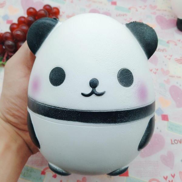 Simulazione carina uovo di panda a rimbalzo lento Bambola bambola panda gigante caldo nuovo giocattolo esotico