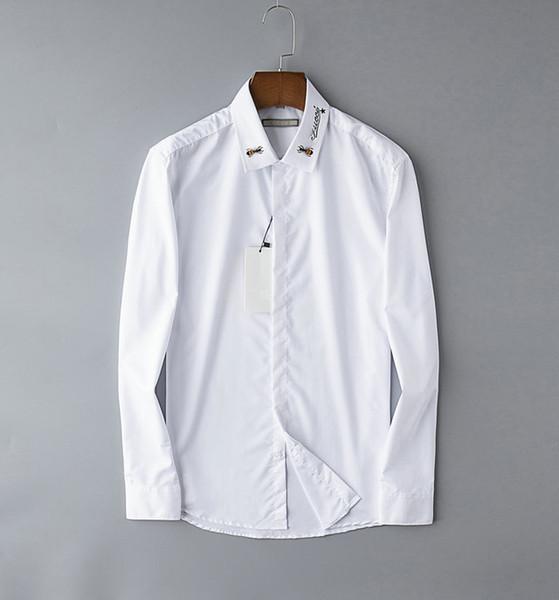 19ss Guccy mens t-shirt designers marque shirt hommes luxe manteau d'affaires broderie mode marée chemisier de haute qualité hot offical style chemises