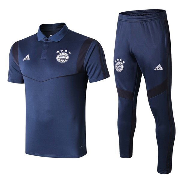 New season Bayern short sleever soccer training suit 19 20 LEWANDOWSKI sportwear MULLER JAMES ROBBEN tracksuits suit size S-2XL