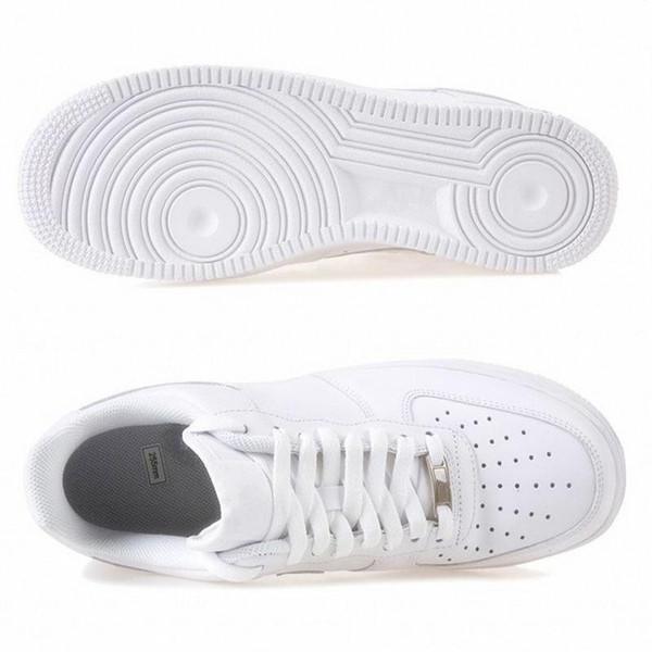 Klasik Bir 1 Bayan Bayan Rahat Ayakkabılar Moda Beyaz Düşük Yüksek Tasarımcı Ayakkabı Ucuz Erkek Kaykay Ayakkabı Boyutları 36-45