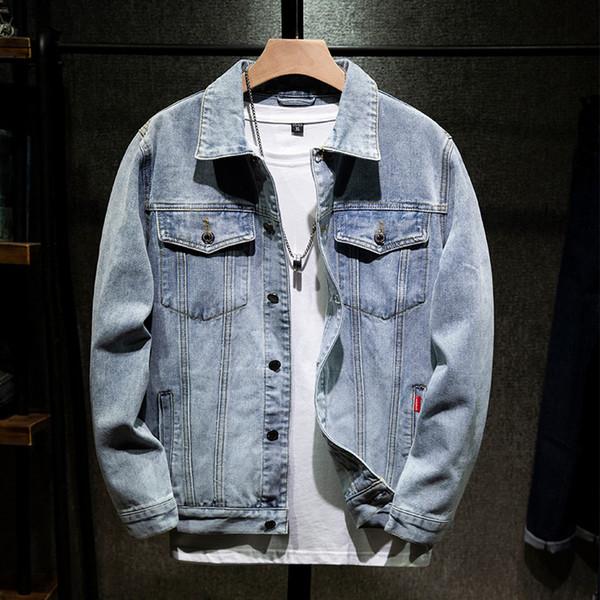 giacca di jeans maschili su grandi cantieri europei e americani transfrontalieri Tide marchio di lavaggio Slim uomini giacca modelli retrò giapponesi cadono i vestiti
