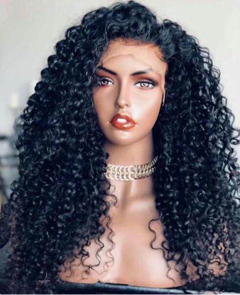 Полное кружево человеческих волос завиток тела длинные расставания предварительно соединенные волосы линия девственницы бразильские парики человеческих волос вьющиеся перед парик шнурка 13x6 для черного жен