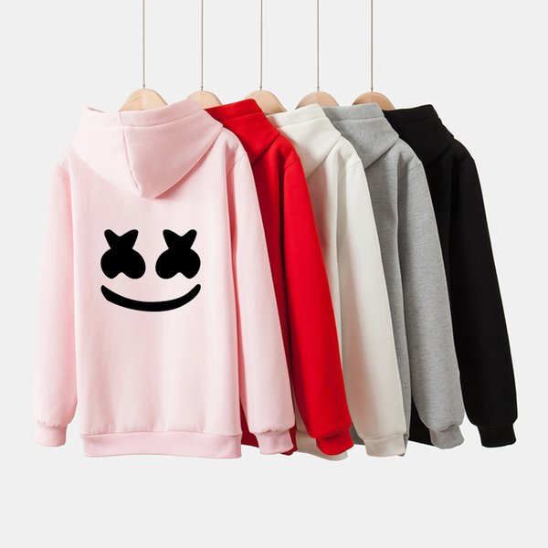 Frdun Marshmello Women and men Hoodies Sweatshirts 2019 rock DJ Smile Hoodie Sweatshirt Exclusive Winter Clothes