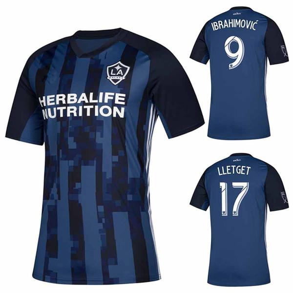 2019 Tienda LA Galaxy Navy Secondary Jersey Ibrahimovic Lletget 18 19 20 Galaxy Home White Away Blue Football Shirt