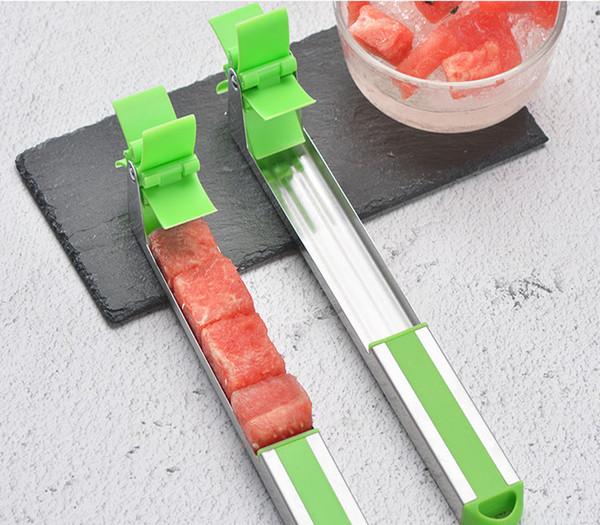 Pastèque Trancheuse Cutter En Acier Inoxydable Couteau Corer Pinces Moulin À Vent Pastèque De Coupe Fruits Légumes Outils Cuisine Gadgets