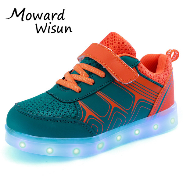 Good Quality Usb Led Shoes Light Glowing Luminous Sneakers With Light Sole For Kids Boys Girls Tenis Led Slippers Children Y19061906