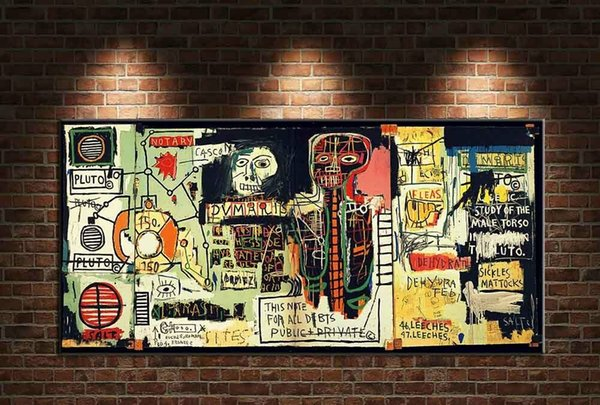 "Jean Michel Basquiat ""Notary"" Home Decor Handpainted &HD Print Oil painting On Canvas Wall Art Canvas Pictures 191119"