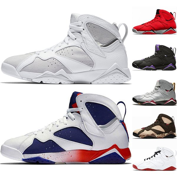 New Arrival Patta 7 Men Basketball Shoes 7s Ray Allen History of Flight Pure Money Mens Athletic Sport Sneakers Szie 8-13
