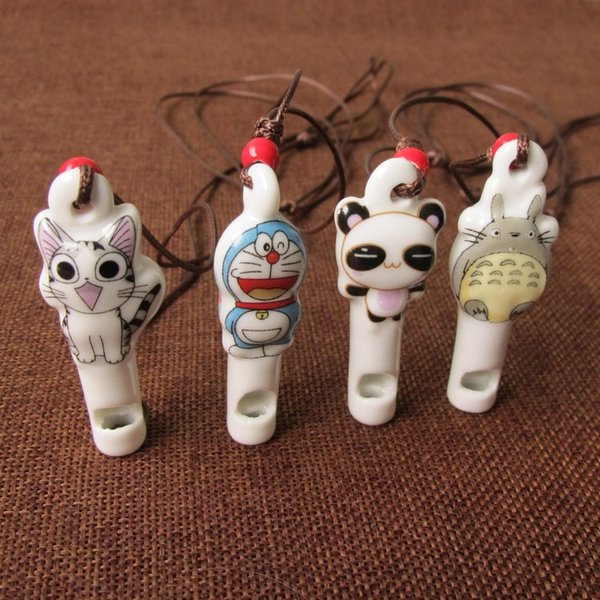 New Products Chinese Style Ceramics Ornaments Lovely Children Cartoon Modelling Personality Simplicity Whistling Pendant Necklace Trinket