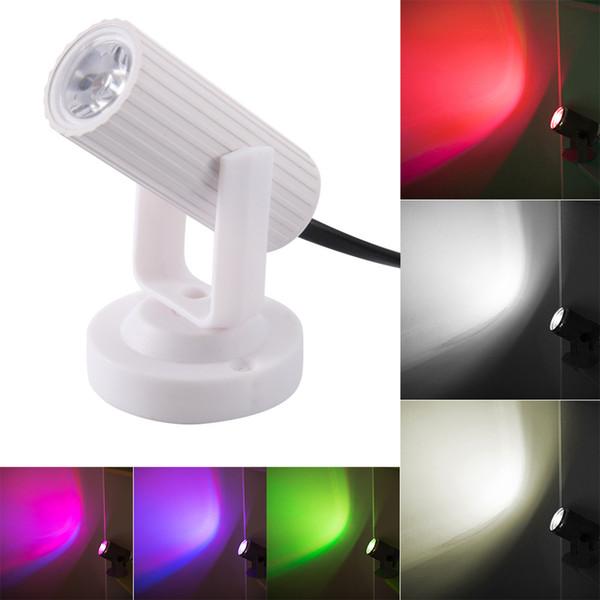 Neueste RGB Blau / Rot / Weiß LED Strahl Scheinwerfer Bühnenlicht Mini 1 Watt für DJ Disco Bar KTV Party Moving Head Bühnenbeleuchtung