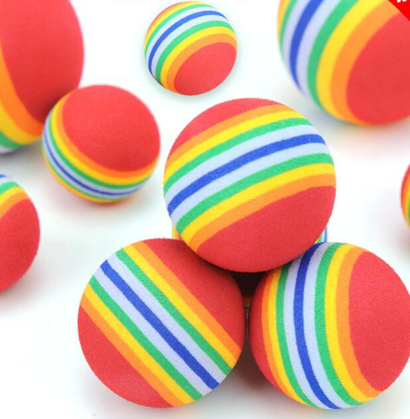 best selling Diameter 35mm interesting Pet Toy dog and cat Toys Super cute Rainbow Ball toy Cartoon plush toy GB1604