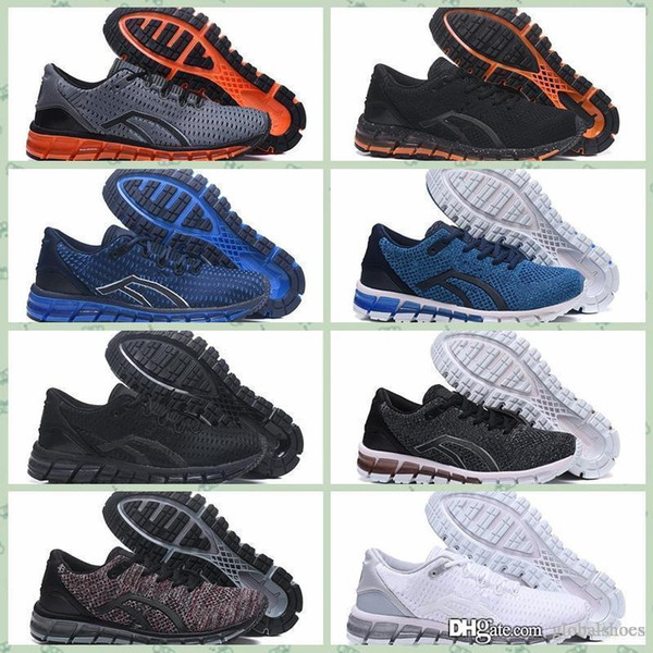 Compre Asics GEL QUANTUM 360 KNIT 2 Nuevo GEL Quantumss 360 SHIFT Estabilidad Zapatillas Para Correr T728N Bule Athletic Outdoor Sports Jogging Shoes