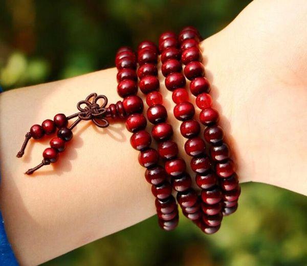 2019 Newest 108 Sandalwood Buddhist Buddha Meditation 8mm Prayer Bead Mala Bracelet Necklace Women Men Jewelry