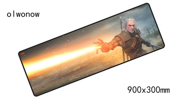 witcher padmouse 900x300x4mm pad to mouse big notbook computer mousepad 2018 new gaming mouse pads gamer keyboard mat