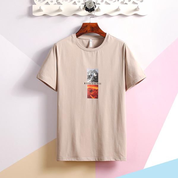 SY28061 camisetas de diseñador para hombre Las mangas cortas de los nuevos hombres tienen una letra roja en el diseñador de pecho, camisas de polo para hombres y camisetas homme
