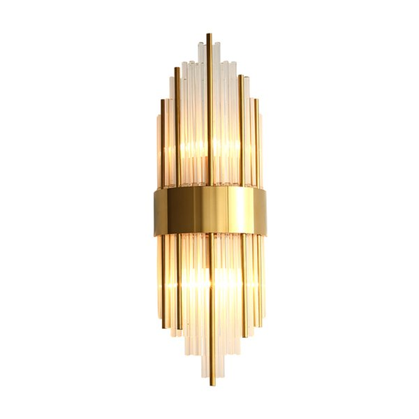 New modern luxury glass wall lamps living room corridor bedside wall sconces light gold finish wall mount led lighting fixtures