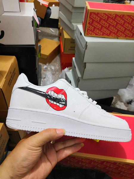 (caja) 2019 Nuevos Hombres Mujeres Low Cut One 1 Zapatos casuales Blanco Negro Dunk Zapatillas de skate deportivas Zapatillas clásicas AF Fly Trainers Zapatillas altasEUR36-45