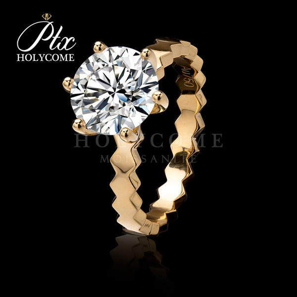 high quality delicated rose gold fancy tiny D white moissanite diamond ring for engagement wedding ceremony