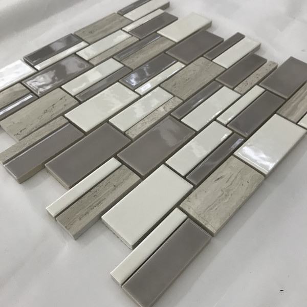 2019 Ceramic Porcelain Stone Mosaic Kitchen Backsplash Tile Brick  Interlocking Mosaic Bathroom Wall Tiles From Sophie_charm, $16.78 |  DHgate.Com