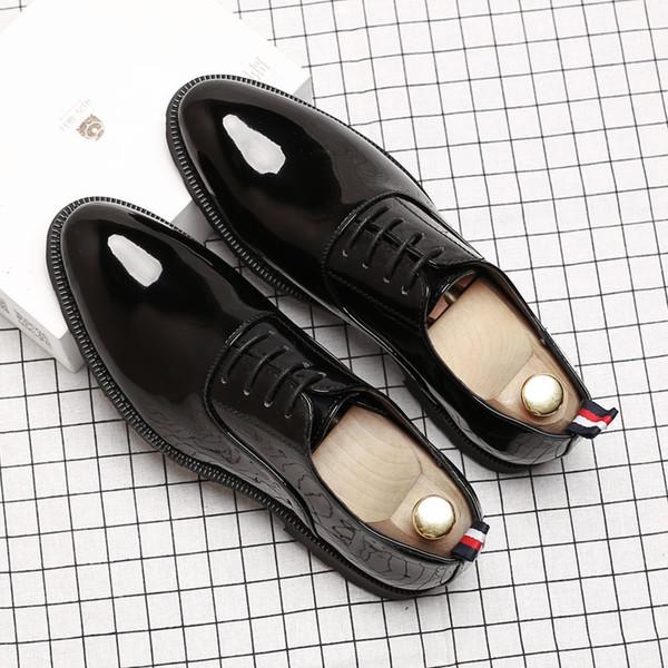 Men Dress Shoes Leather Social Elegant Luxury Designer Wedding Shoes Men Designer Wedding Shoes Men2019
