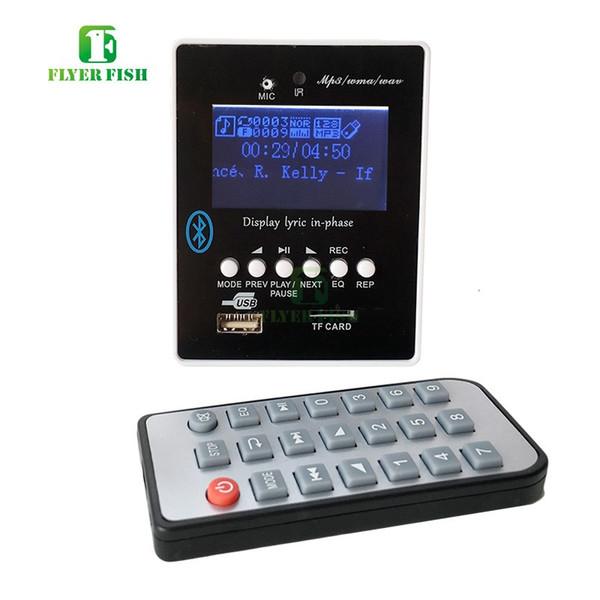 Freeshipping MP3 Alar música Módulo de reproductor de MP3 USB Compatibilidad con 32GB U-Disk TF Media Lyric e Pantalla LED etooth TF Audio Board