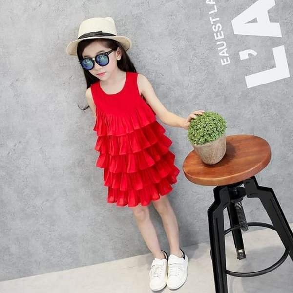 2019new arrival girl cake princess tutu one piece layered dress Wedding baby dresses children thanksgiving costume velvet