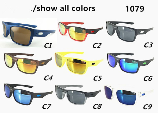 Good quality Sell well New Style Men Outdoor sports Sunglasses 1079 Fashion Designer Classic Dazzle colour GLASSES Black frame Eyewear